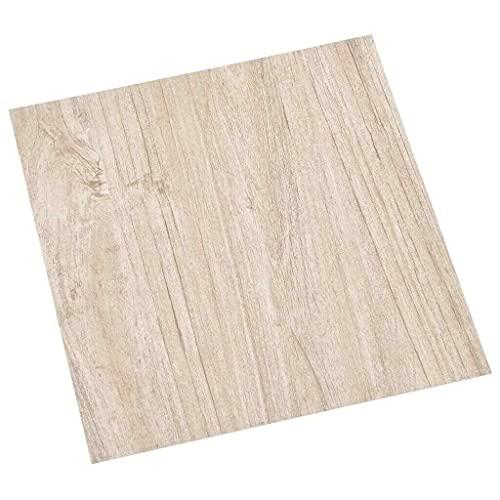 vidaXL 55x PVC-Fliesen Selbstklebend Vinyl-Fliesen Bodenbelag Vinylboden Laminat Dielen Fußboden Laminatboden Fliese Wohnzimmer 5,11m² Hellbraun