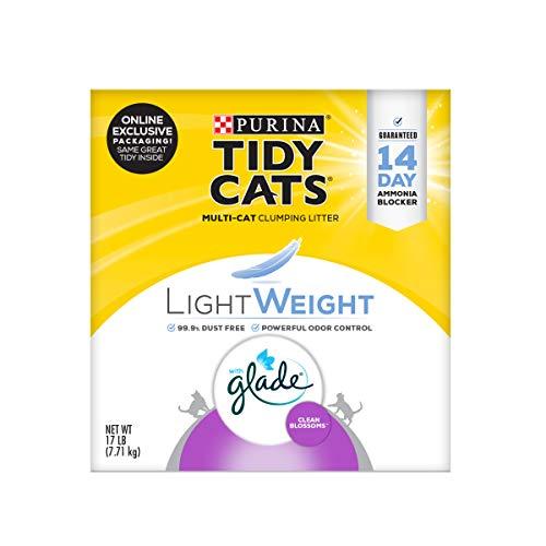 Purina Tidy Cats Light Weight, Low Dust, Clumping Cat Litter, LightWeight Glade Clean Blossoms Multi Cat Litter - 17 lb. Box