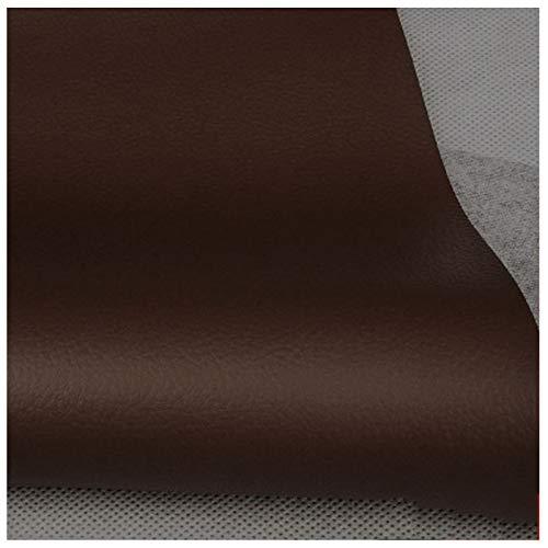 LILAMP Tela de Imitación de Cuero Tapicería de Cuero Sintético de Color Marrón Oscuro Material Texturizado Material Resistente Ignífugo, Forro de Automóvil - 1 Metro 100 Cm X 138 Cm(Size:1.38x2m)