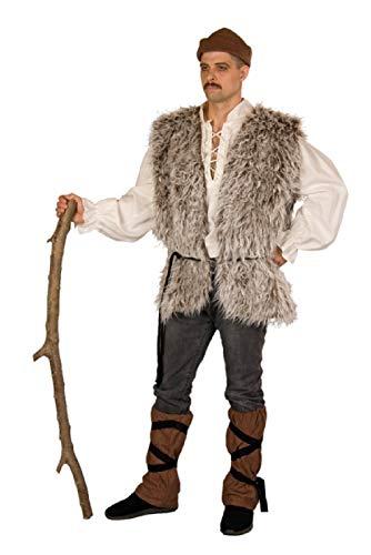 shoperama Disfraz de pastor pastor de 4 piezas para hombre, con gorra, calentadores, cordn, juego de beln de Navidad, talla: 50/52