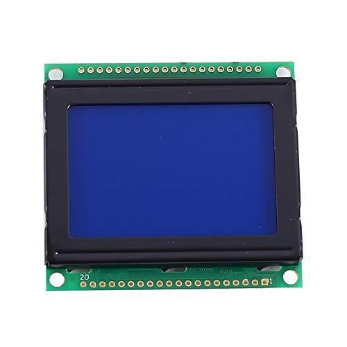 LCD Anzeigemodul,DC 3,3V LCD 12864 Weißes Zeichen Blauer Hintergrund Punktmatrix 128x64-Bildschirm KS0108B Treiber(54 * 50 * 8mm)