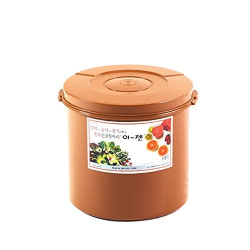 E-Jen Premium Kimchi, Sauerkraut Container Probiotic Fermentation with Inner Vacuum Lid Round (3.1 gal/ 12L)