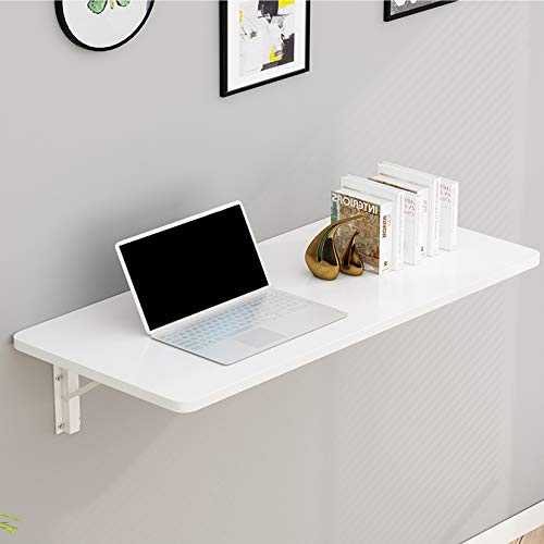 White Wall Mounted Table,Invisible Table,Writing Desk,Kitchen Wall Mounted Folding,Size Optional (70 * 50cm/28 * 20in)