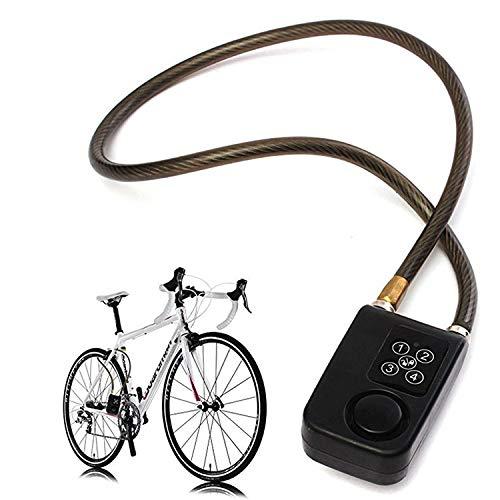 Solebe Password Lock Bike/Motorcycle/Gate Door Digital Lock with Anti Theft Alarm 110dB(Black 31.5 Inch)
