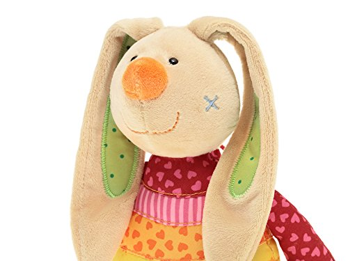 sigikid, Mädchen, Spieluhr, Stofftier Hase Rainbow Rabbit, Rot/Mehrfarbig, 40577 - 6