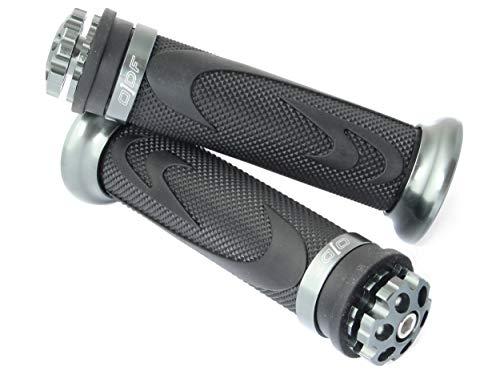 Lenkergriffe kompatibel mit Daelim Otello, S3, S300, Streezer, Daystar, SV 125 (RS1/Grau)