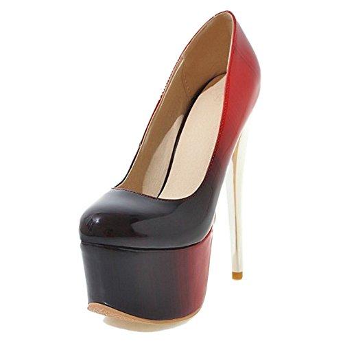 Smilice Damen Fashion Plateau Pumps mit Stiletto Absatz