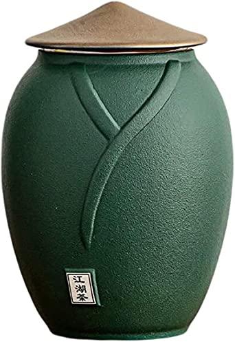 Los latas de té de cerámica de color multicolor de WHXL para los tanques de almacenamiento de alimentos, con una tapa sellada, se pueden usar para café, té, azúcar, especias, etc.