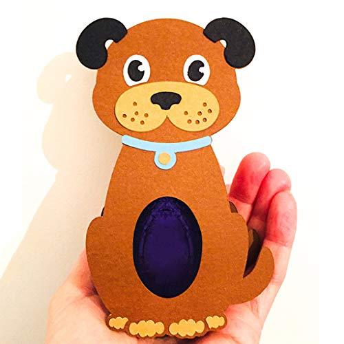 Easter Dog Box Stanzschablonen Ostern Metall Prägeschablonen Stanzformen Cutting Dies Für DIY Scrapbooking Karten Handwerk Geschenk