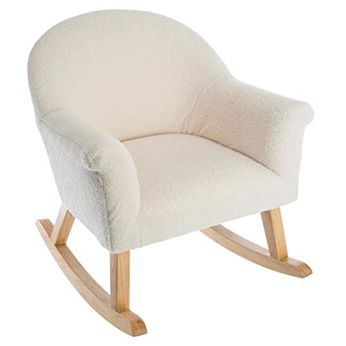 Atmosphera Rocking chair in pastel color on wooden legs perfect for your child's room