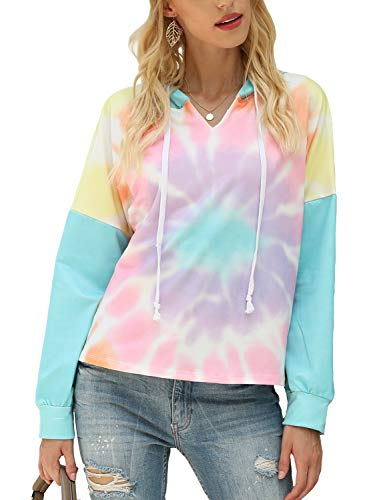 Koscacy Plus Size Hoodies for Women ,Boutique Clothing Casual Sweatshirts Elegant Thin Muticolour Hoodies Athleisure Shirts Zulily Sweatshirt Rainbow 2XL