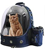 U/D Pet Carriers Backpacks Bubble Bag, Premium Space Capsule Cat Dog Carrier Backpack Travel Bag Kitten Doggy Back Pack for Traveling Hiking Camping Outdoor use (Blue)