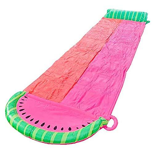 MISS YOU Rasenwasser-Folien, Doppel-Wasser-Slide-Spray-Sommer-Spielzeug mit Wasserspray-Gerät, Wasserparty im Freien Sport Super Waterslide für Kinder