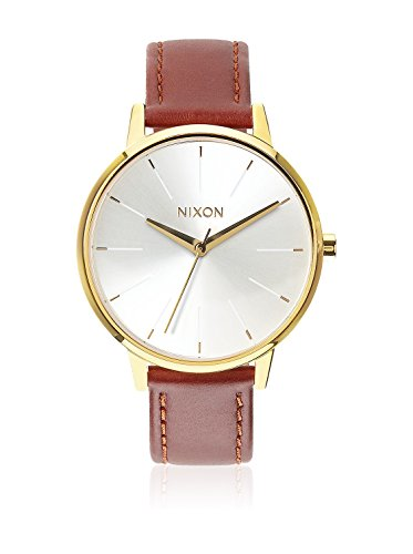 Nixon Damen Analog Quarz Uhr mit Leder Armband A1081425-00