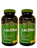Finest Nutrition Lecithin - 1200mg - 200 Softgels - 2 Pack