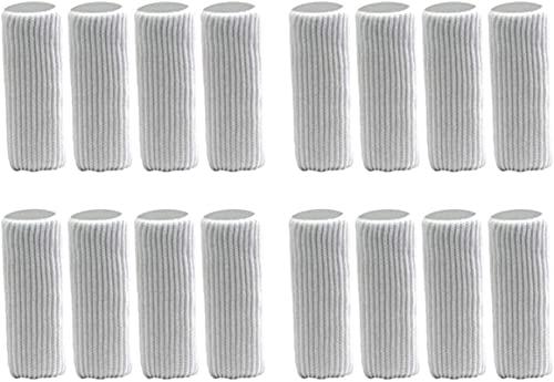 Paquete de 16 Calcetines para pies de Silla para Muebles, Protector de Piso para Cubierta de Pierna Deslizante Deslizante de Tela Tejida para Muebles de Taburete de Silla de Mesa