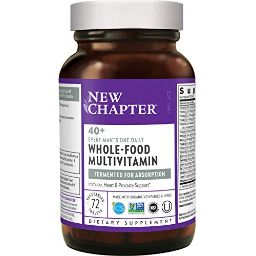 New Chapter Men's Multivitamin + Immune Support - Every Man's One Daily 40+, Fermented with...