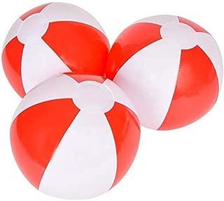 Rhode Island Novelty 12 Inch Red and White Beach Balls One Dozen