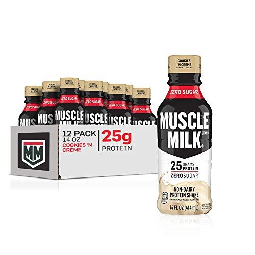 Muscle Milk Genuine Protein Shake, Cookies 'N Crème, 25g Protein, 14 Fl Oz, 12 Pack