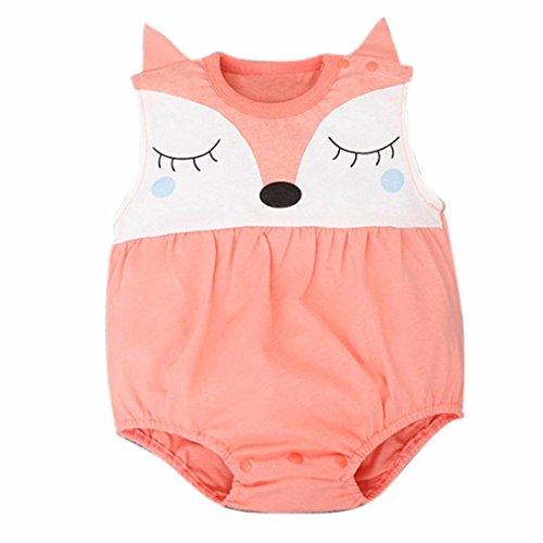 Amlaiworld Covermason Bebé, Niños Niñas Recién Nacido del bebé de Zorro Mono Trajes 0-24 Mes (0-6 Mes, Naranja)
