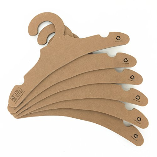 """30Pack Koobay 11"""" Brown Paper Cardboard Recyclable Children Clothes Hangers for Baby & Toddlers Coat"""