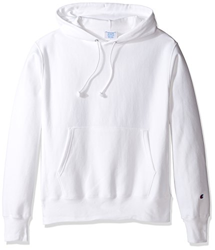 Champion LIFE Men's Reverse Weave Pullover Hoodie, White, XL