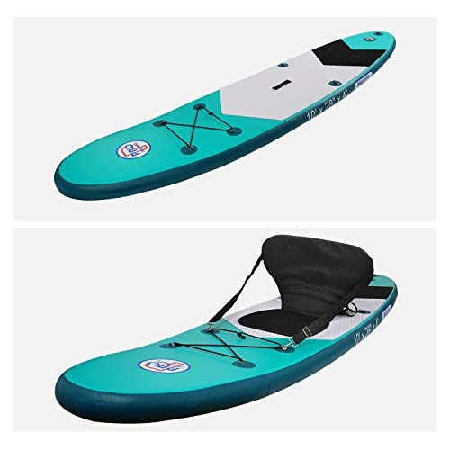 Product Image 6: Promarine Inflatable Stand Up Paddle Board Premium SUP Accessories & Backpack, Non-Slip Paddle Board, Leash, Paddle, Waterproof Backpack,Kayak Seat, Hand Pump, and Repair kit 120 Long 28 Wide 4 Thick