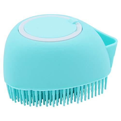 TAECOOOL 2 en 1 silicona exfoliante corporal suave de silicona con dispensador de gel de ducha para bebés, hombres, mujeres, azul (azul-X)