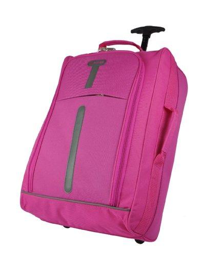 5 città ® 21 cm, colore: fucsia, castello materiale antistrappo-Trolley borsone con ruote, ecc. solo 1,65 kg; capacità: 42 L