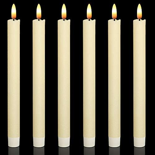 Wondise Flameless Window Taper Candles Flickering with 6 Hour Timer 6 Pack Battery Operated product image
