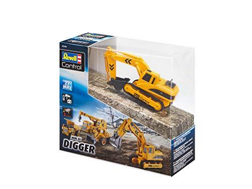 RC Auto kaufen Baufahrzeug Bild 5: Revell Control 23496 RC Baufahrzeug Schaufelbagger mit Kettenantrieb, 27MHz, Akku ferngesteuertes Auto, gelb-orange, 12 cm*