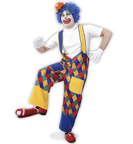 KarnevalsTeufel Clownhose Chico Erwachsenen Kostüm Clownkostüm, Karneval, Fasching, Mottoparty (X-Large)