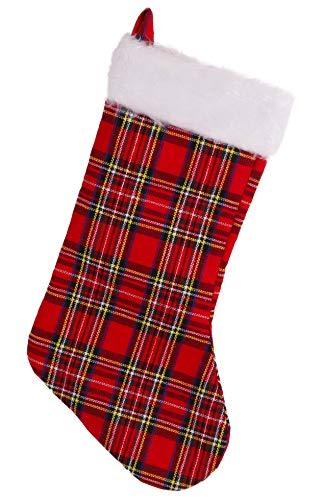Christmas Concepts - Calza natalizia in pelliccia sintetica, 45,7 cm, decorazioni natalizie e accessori