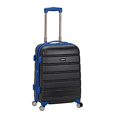 Rockland Melbourne 20  Expandable Abs Carry on, Grey