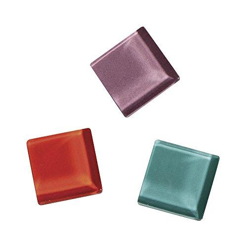 Rayher - Surtido de Piedras Mosaico de Cristal Suave, Multicolor, 13,5 x 13,5 x 6,5cm, Vidrio, carbón, 13.5 x 13.5 x 6.5 cm