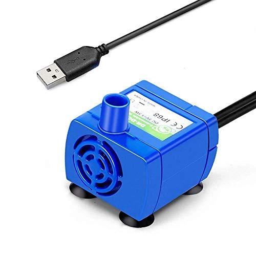 FONLAM ペット給水器ポンプ 交換用ポンプ 猫自動給水器ポンプ 小型ポンプ 水ポンプ 超静音 省エネ 最大流量150L/H 1.8Mケーブル DC5V