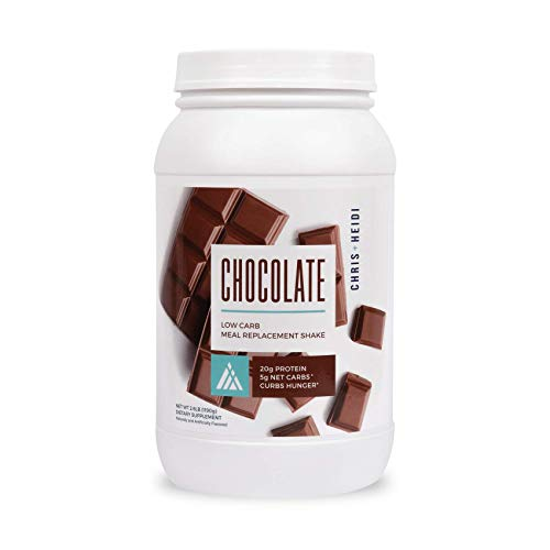 Chris + Heidi Low Carb Meal Replacement Shake Chocolate - Helps Curb Hunger, Promotes Weight Loss - 20g of Premium Protein, Daily Vitamin Blend - 28 Servings