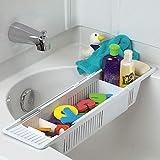 HomDSim Bandeja de baño de plástico, soporte para bañera antideslizante,...