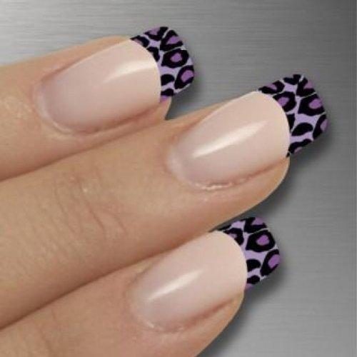 Nagelfolien/Frenchnails/Finger/Purple Leo- selbstklebend mit individuellen Designs by Glamstripes- made in Germany. 12 Nail Wraps äußerst strapazierfähig mit langer Haltedauer