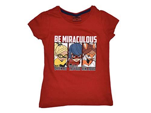 Miraculous Ladybug - Camiseta (Talla 116-146 Gris Oscuro 6 años