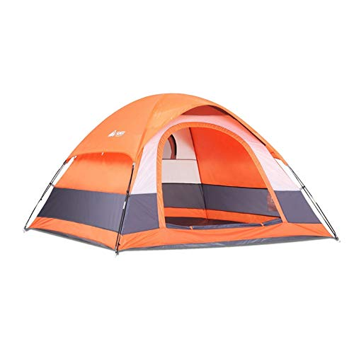 SEMOO Family Dome Tent for Camping, Water Resistant 5 Person 3-Season Lightweight with Portable Bag