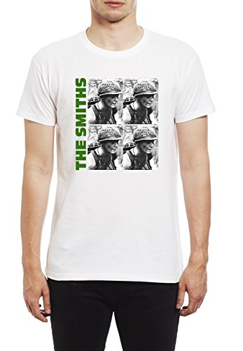 de Morrissey and The Smiths The Smiths Meat Is Murder Camiseta para Hombre. Blanco/Large