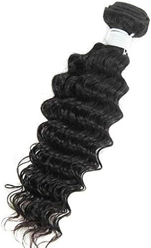 AN-LKYIQI Brasilianischen Jungfrau menschlichen Haar Extensions Tiefe Curly voller Kopf, natürliche Farbe (8-Zoll 10 Zoll 12inch14inch16inch18inch20inch) , 20 inch