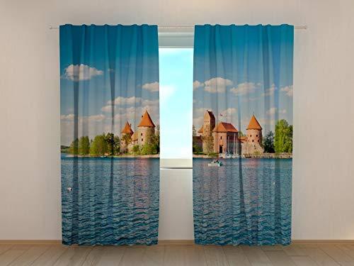 Wellmira Fotogardinen, Vorhang mit Fotodruck, Fotovorhang mit Motiv, Bedruckte Gardine, Maßanfertigung (Gabardine, 175x200 cm)