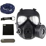 Masque facial tactique à gaz antibuée M04 avec turbo ventilateur airsoft et...