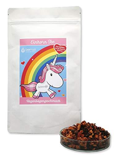 Einhorn Tee Regenbogengeschmack. Das super Geschenk für Einhorn Fans | 100g loser Früchtetee | 100% Einhorn 100% Natürlich
