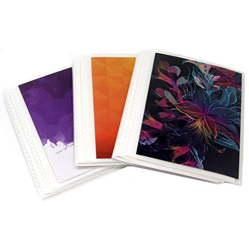 4 x 6 Photo Albums Pack of 3 - Brights, Each Mini Photo Album Holds Up to 48 4x6 Photos. Flexible, Removable Covers Come in Vibrant Colors