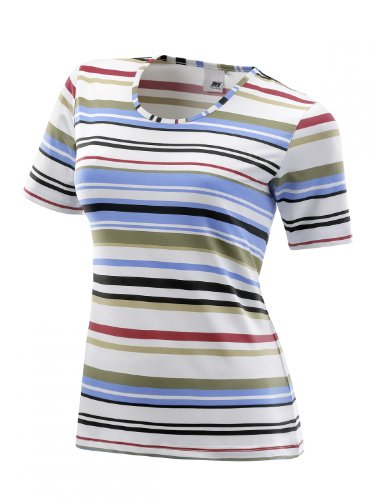 Inconnu Zoey T-Shirt à Rayures pour Femme Taille 38 - Bleu - S