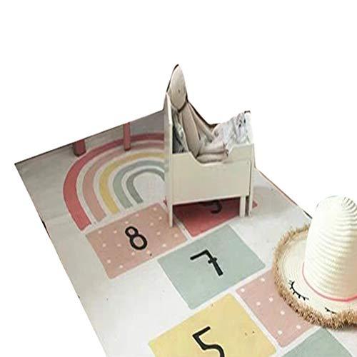 Creacom Kids Crawling Lernspiel Baby Play MAT Weicher Baumwollteppich - Spielmatte wasserdichte Faltbare Spielmatte 180x70cm