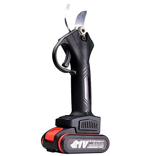 Angelay-Tian Tijeras de podar eléctricas 30 mm, Profesional 21 V 2 Ah Tijeras de podar eléctricas inalámbricas, para setos, Ramas, Frutas, arbustos, árboles, huertos (Color : A)